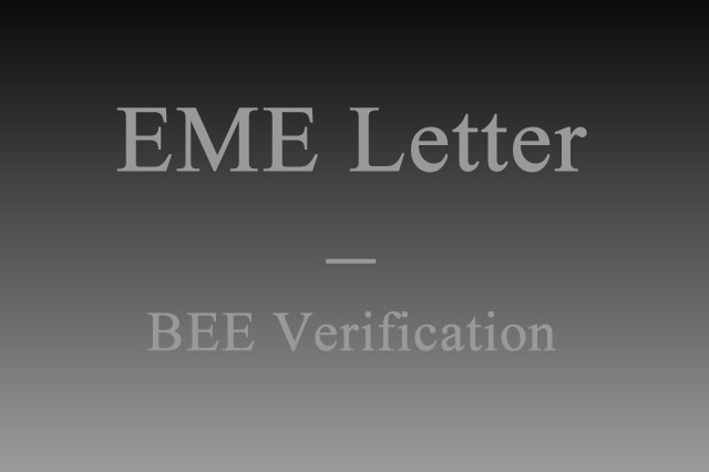 BEE Verification (EME Letter)